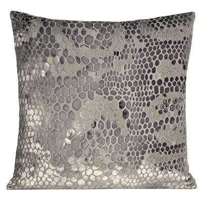 Snakekin Velvet Throw Pillow Color: Silver