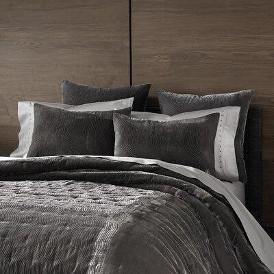 Cirrus Velvet Sham Size: Standard, Color: Pewter
