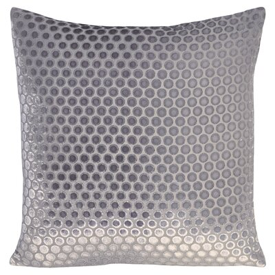 Dots Velvet Pillow Color: Silver, Size: 18 H x 18 W x 4 D