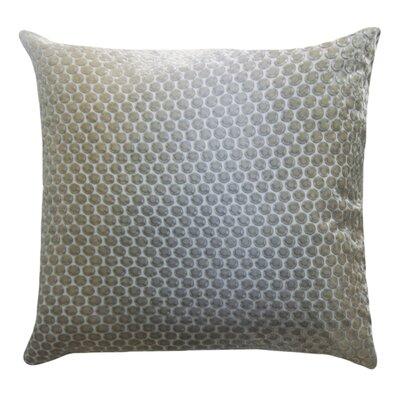 Dots Velvet Pillow Color: Nickel, Size: 18 H x 18 W x 4 D