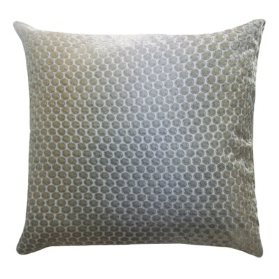 Dots Velvet Throw Pillow Color: Nickel