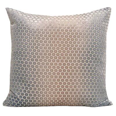 Dots Velvet Pillow Color: Robins Egg, Size: 18 H x 18 W x 4 D