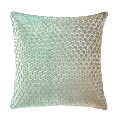 Dots Velvet Pillow Color: Antique, Size: 18 H x 18 W x 4 D