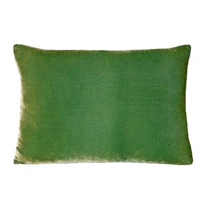 Ombre Velvet Throw Pillow Color: Grass, Size: 14 H x 20 W