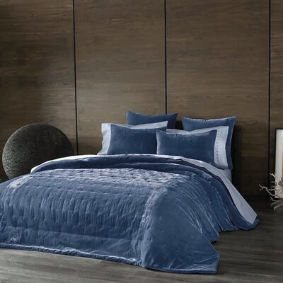 Cirrus Velvet Sham Size: Standard, Color: Periwinkle
