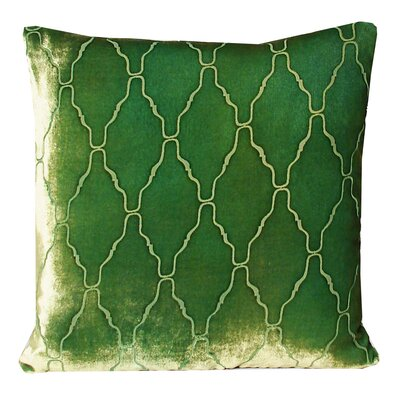 Arches Velvet Throw Pillow Color: Grass