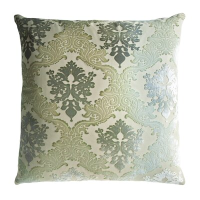 Brocade Velvet Pillow Color: Celadon, Size: 20 H x 20 W x 4 D