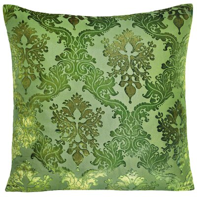 Brocade Velvet Pillow Color: Grass, Size: 20 H x 20 W x 4 D