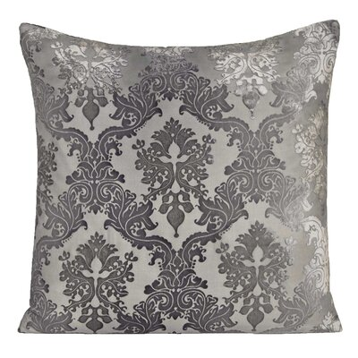 Brocade Velvet Throw Pillow Color: Silver