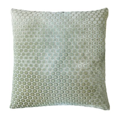 Dots Velvet Throw Pillow Color: Celadon