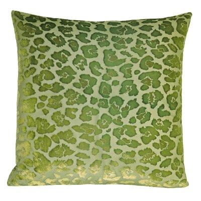 Leopard Velvet Throw Pillow Color: Grass