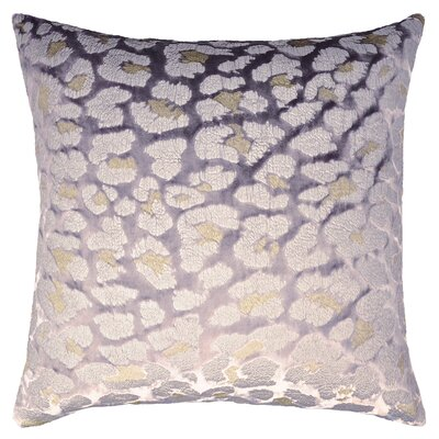 Leopard Metallic Velvet Pillow Color: Violet Silver