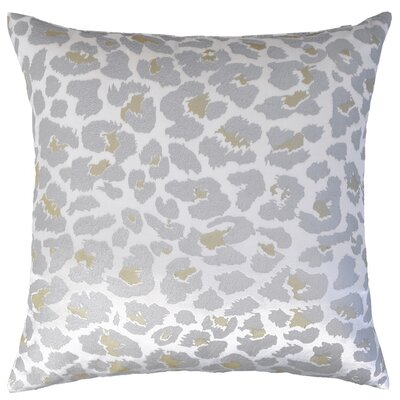 Leopard Metallic Velvet Throw Pillow Color: White