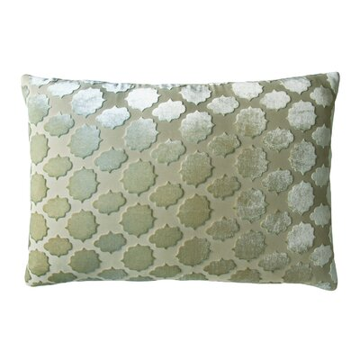 Mod Fretwork Velvet Lumbar Pillow Color: Celadon