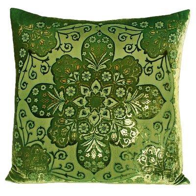 Moroccan Velvet Throw Pillow Color: Grass