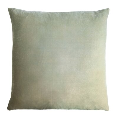 Ombre Velvet Throw Pillow Color: Ice