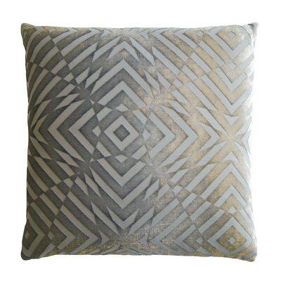 Op Art Velvet Throw Pillow Color: Nickel