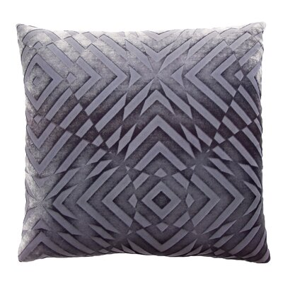 Op Art Velvet Throw Pillow Color: Aubergine