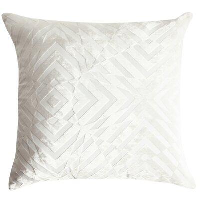 Op Art Velvet Throw Pillow Color: White
