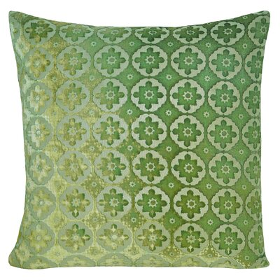 Small Moroccan Velvet Pillow Color: Grass, Size: 18 H x 18 W x 4 D