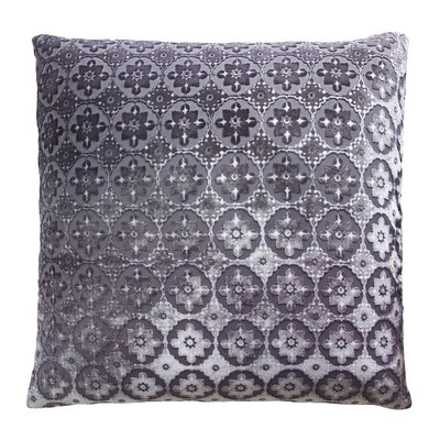 Small Moroccan Metallic Velvet Throw Pillow Color: Aubergine