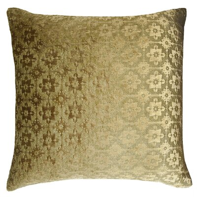 Small Moroccan Metallic Velvet Throw Pillow Color: Gold