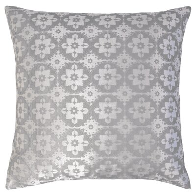 Small Moroccan Metallic Velvet Throw Pillow Color: White
