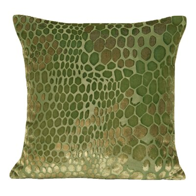 Snakeskin Velvet Throw Pillow Color: Grass
