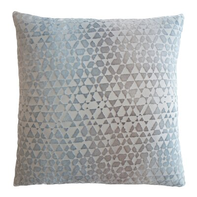 Triangles Velvet Throw Pillow Color: Robins Egg, Size: 18 x 18