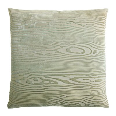 Woodgrain Velvet Throw Pillow Color: Celadon