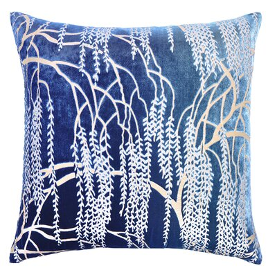 Willow Metallic Velvet Throw Pillow Color: Shark