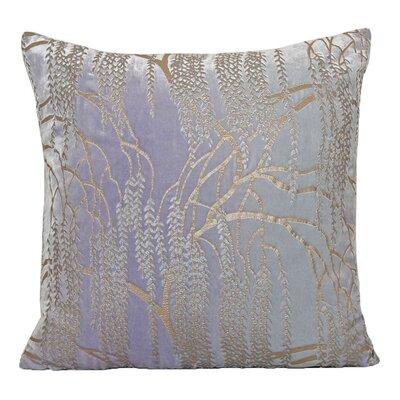 Willow Metallic Velvet Throw Pillow Color: Cornflower