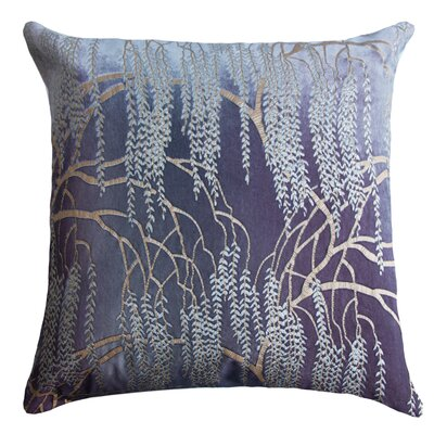 Willow Throw Pillow Color: Cobalt Black, Size: 22 H x 22 W x 3 D