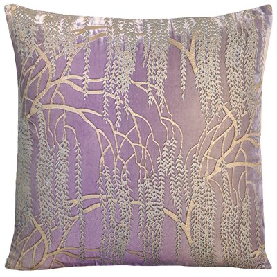Willow Metallic Velvet Throw Pillow Color: Iris