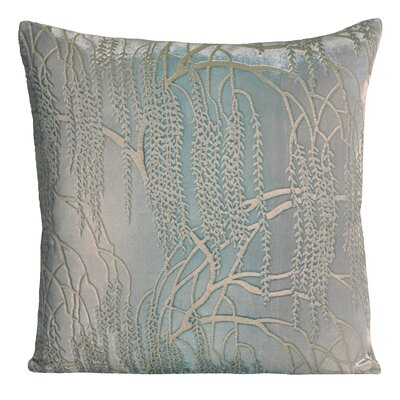 Willow Velvet Throw Pillow Color: Robins Egg, Size: 19 H x 19 W x 4 D