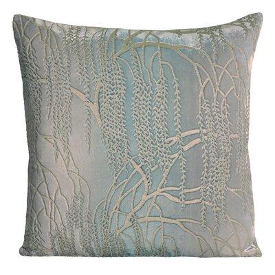 Willow Metallic Velvet Throw Pillow Color: Robins Egg