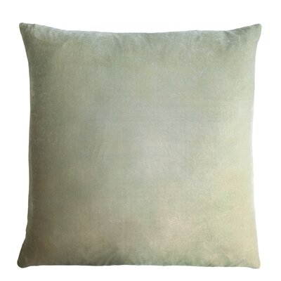 Ombre Velvet Throw Pillow Size: 22 H x 22 W, Color: Celadon