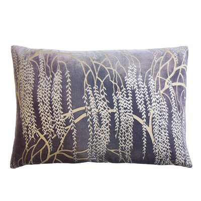 Willow Metallic Velvet Lumbar Pillow