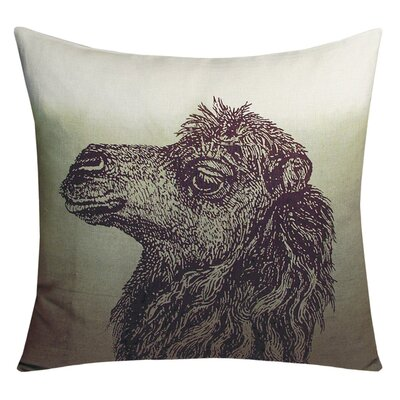 Animals Camel Throw Pillow Color: Twilight