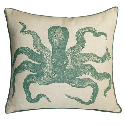 Nauticals Cuttlefish Throw Pillow Color: South Pacific