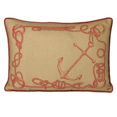 Nauticals Knots Lumbar Pillow Color: Coral Sand