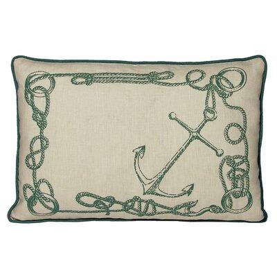 Nauticals Knots Lumbar Pillow Color: South Pacific