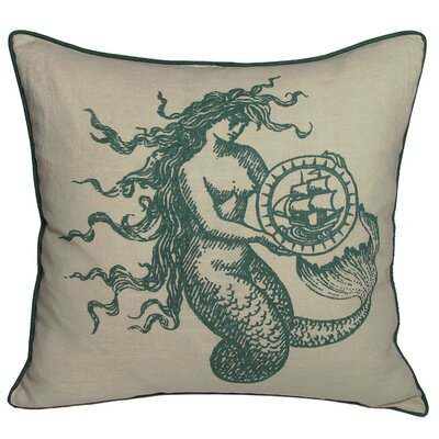 Nauticals Mermaid Throw Pillow Color: South Pacific