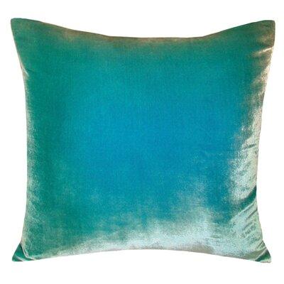 Ombre Velvet Throw Pillow Color: Aqua