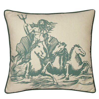 Nauticals Poseidon Throw Pillow Color: South Pacific