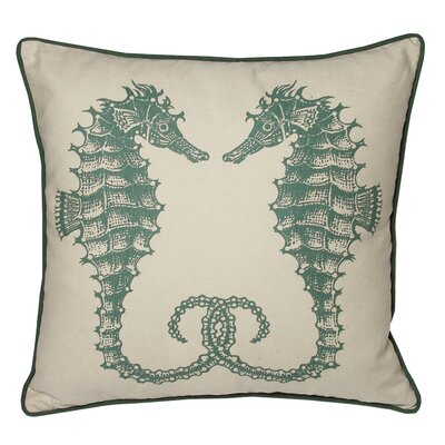 Nauticals Seahorse Throw Pillow Color: South Pacific