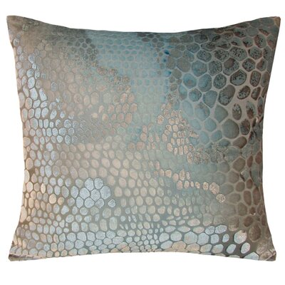 Snakeskin Velvet Throw Pillow Color: Robins Egg