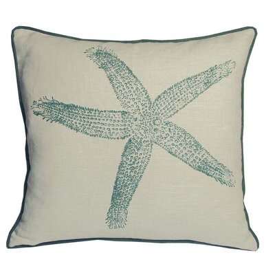 Nauticals Starfish Throw Pillow Color: South Pacific