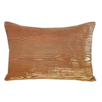 Woodgrain Velvet Lumbar Pillow Color: Mango