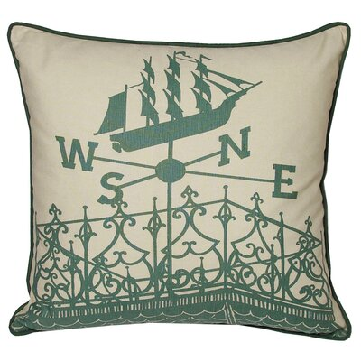 Nauticals Widows Walk Throw Pillow Color: South Pacific